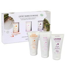 Coffret 3 baumes de massage bio*