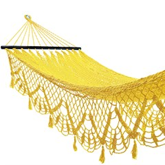 Hamac simple filet jaune macramé