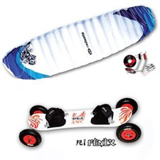 Mountainboard + voile de traction