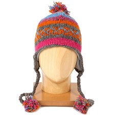 Bonnet népalais adulte gris/orange