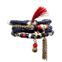 Bracelet Bohême navy & or