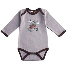 Body gris flying boy coton bio