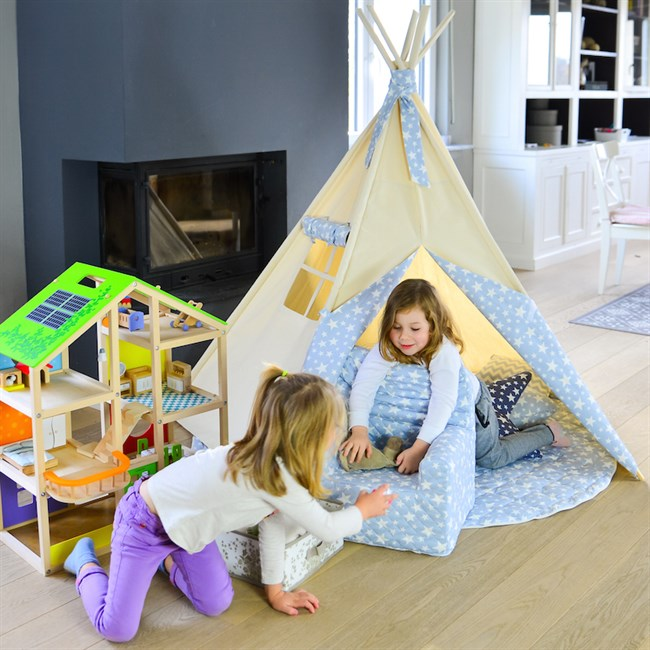tapis pour tipi enfant toile abitare ki nature d couvertes. Black Bedroom Furniture Sets. Home Design Ideas