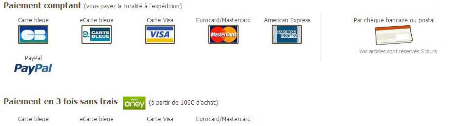 modes de paiement