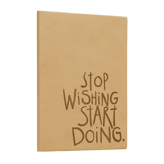 Carnet inspirant Stop wishing