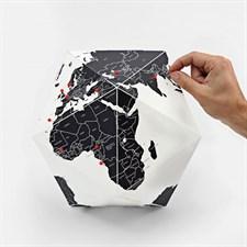 """Globe en papier """"Pin it"""" avec frontières"""
