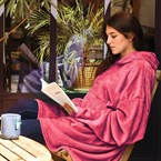 Poncho Cocoon rose