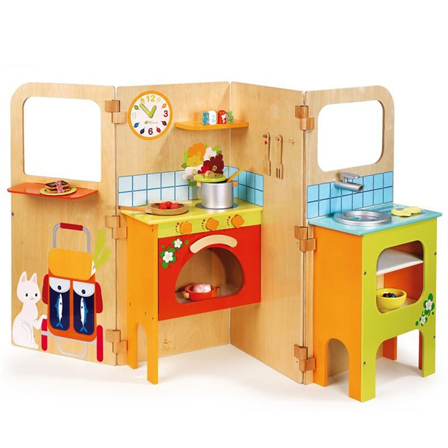 ma cuisine tout quip e en bois nature d couvertes. Black Bedroom Furniture Sets. Home Design Ideas