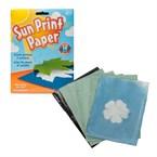 Papier imprimé par le soleil