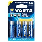 4 piles LR06 AA High Energy Varta