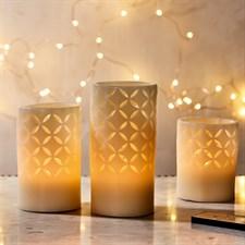"""3 bougies à LED """"Entrelacs de lumière"""""""