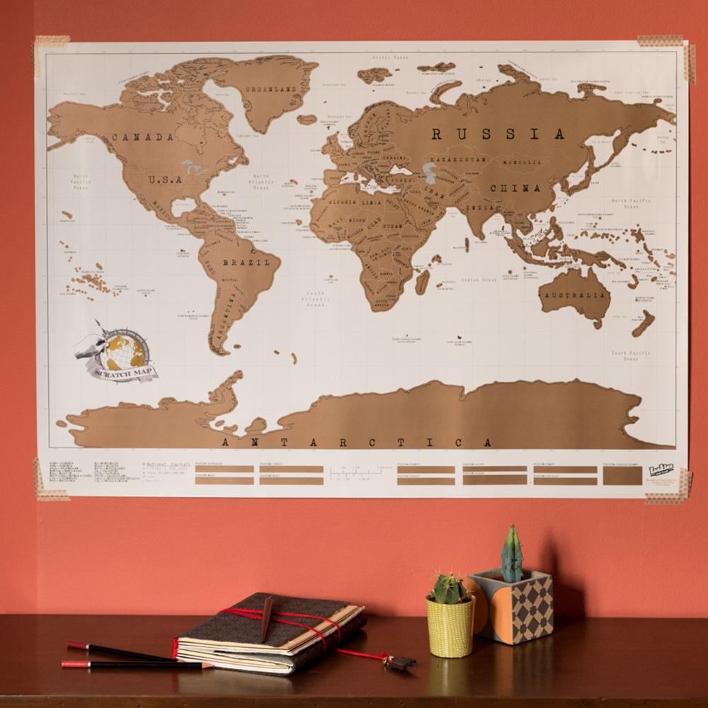 Carte Du Monde A Gratter Nature Decouvertes