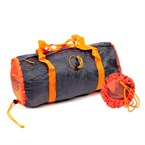 Sac polochon pliable orange/gris
