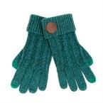 Gants tactiles et aimantés bleu-vert