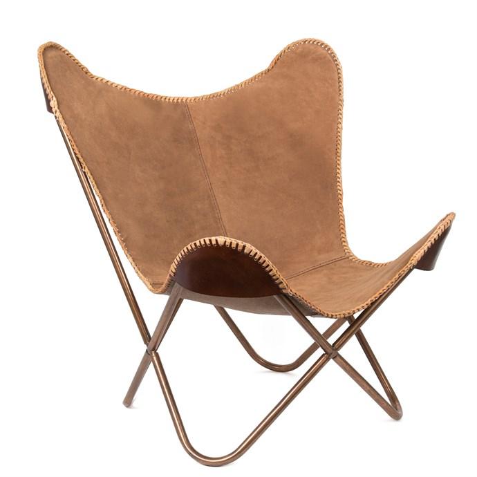 fauteuil papillon su de de cuir nature d couvertes. Black Bedroom Furniture Sets. Home Design Ideas