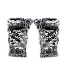 Moufles mitaines chinées noir/blanc