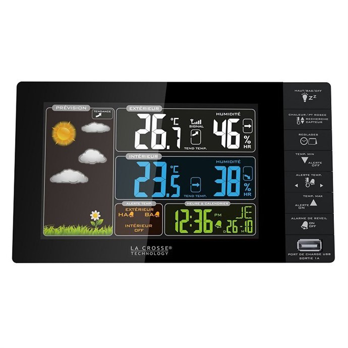 Station m t o avec cran lcd color usb nature - Station meteo nature et decouverte ...