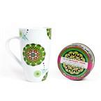 Coffret mug et thé macaron