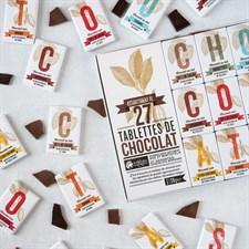 Assortiment de 27 tablettes de chocolat