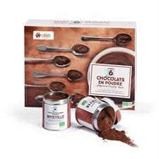 6 chocolats en poudre aromatisés bio