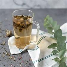 Coffret 6 fleurs de thé et mug en verre