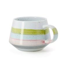 Tasse à thé rayures vertes