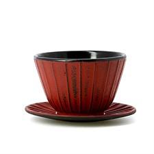 Tasse à thé et soucoupe fonte Hinageshi