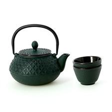 Service à thé en fonte Hinoki
