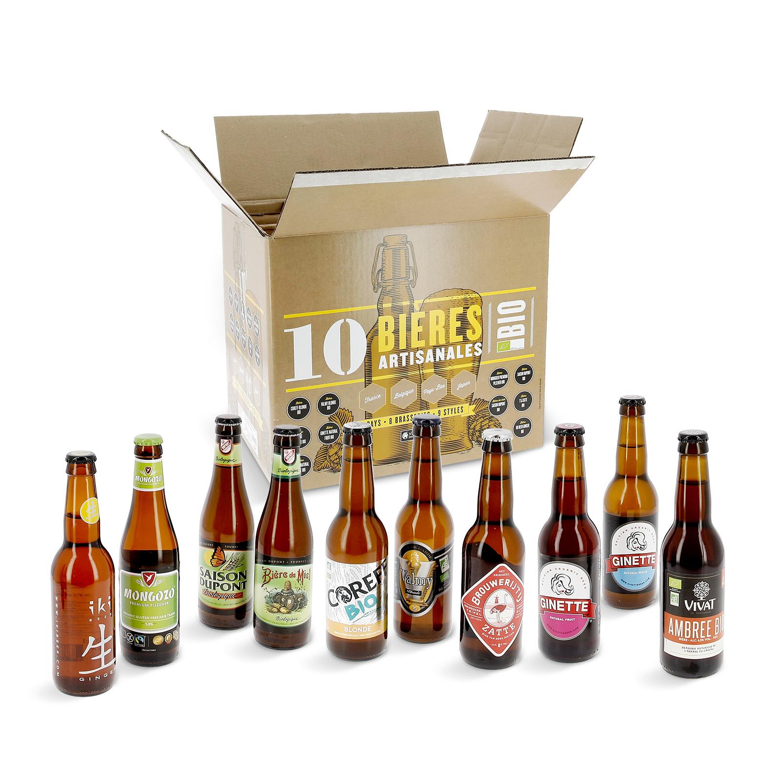 9a5fe982b22 Coffret 10 bières bio