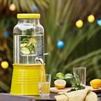 Fontaine à boisson jaune avec infuseur
