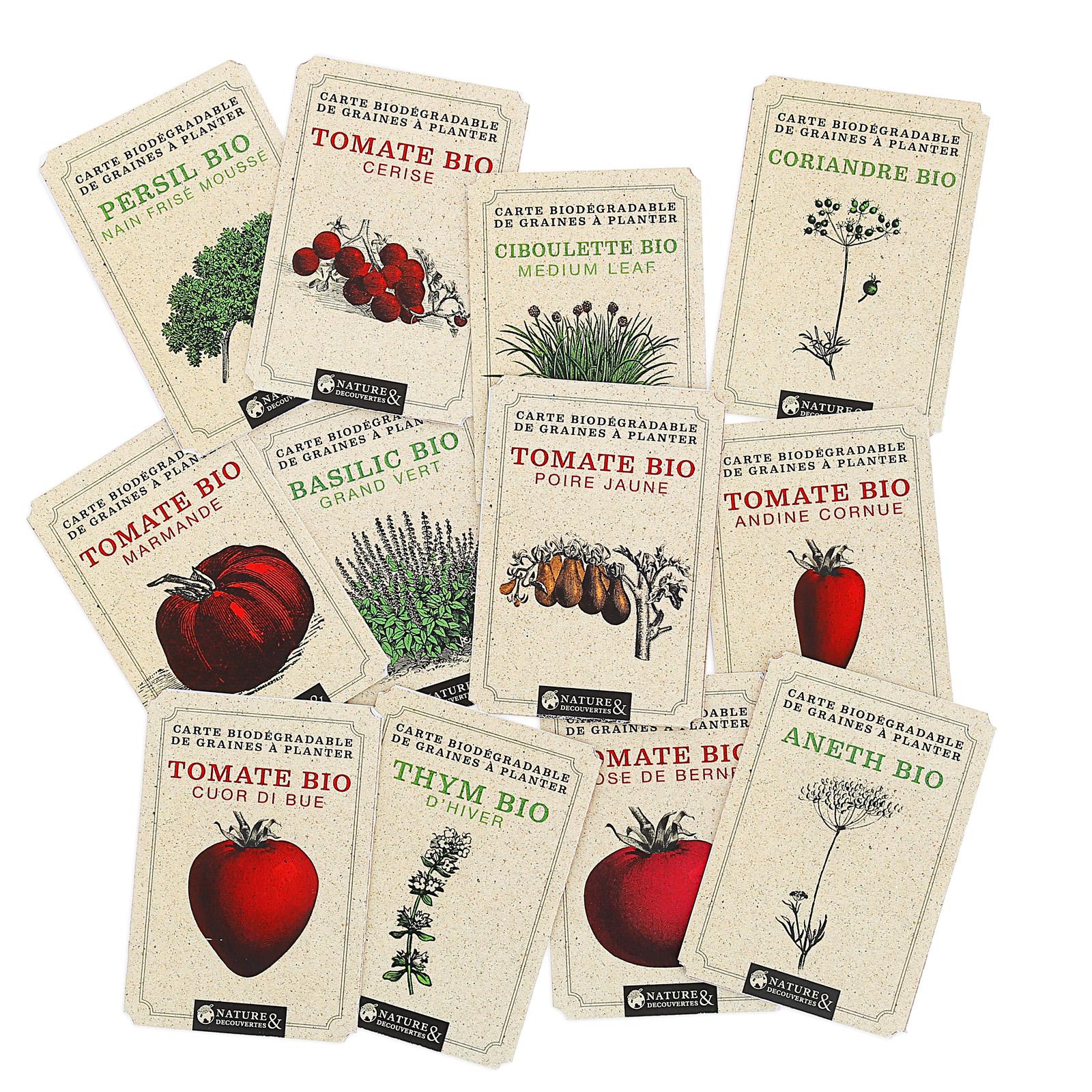 Bio Cerise Tomates Tomates Graines Carte Carte Graines Cerise xCeBrdo