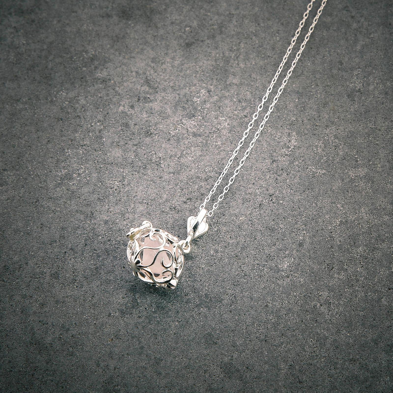 Collier Pierre des anges quartz rose