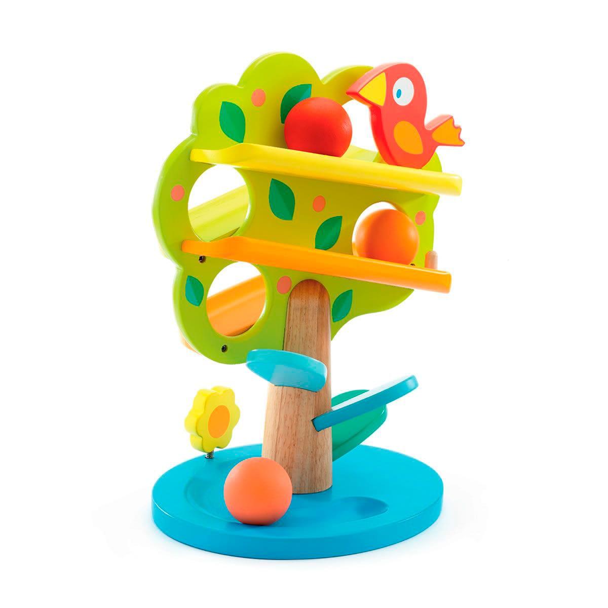 boule en bois arbre a jouet