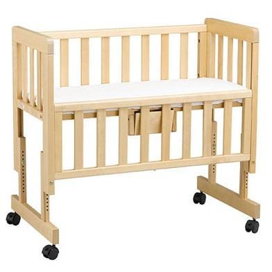 Lit co sleeping en bois nature d couvertes - Lit bebe barriere coulissante ...