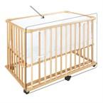 Barrière additionelle en bois pour lit