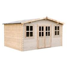 Abri de jardin en bois clément 19.20 m²