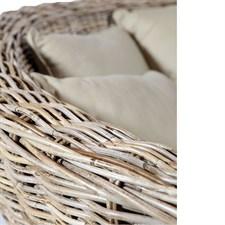 Canapé d'intérieur jaipur en kubu tressé