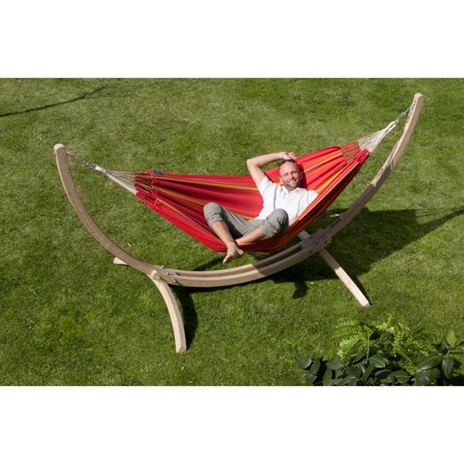 hamac simple avec support support canoa nature d couvertes. Black Bedroom Furniture Sets. Home Design Ideas