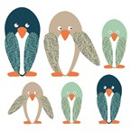 Stickers enfant famille pingouin