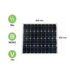 Panneau solaire 50w-12v monocristallin -