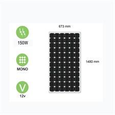 Panneau solaire 150w-12v monocristallin