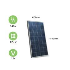 Panneau solaire 140w-12v polycristallin