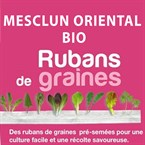 Ruban de graines de mesclun oriental bio
