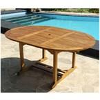Table de jardin ronde/ovale teck huilé 6
