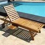 Bain de soleil / chaise longue en teck h