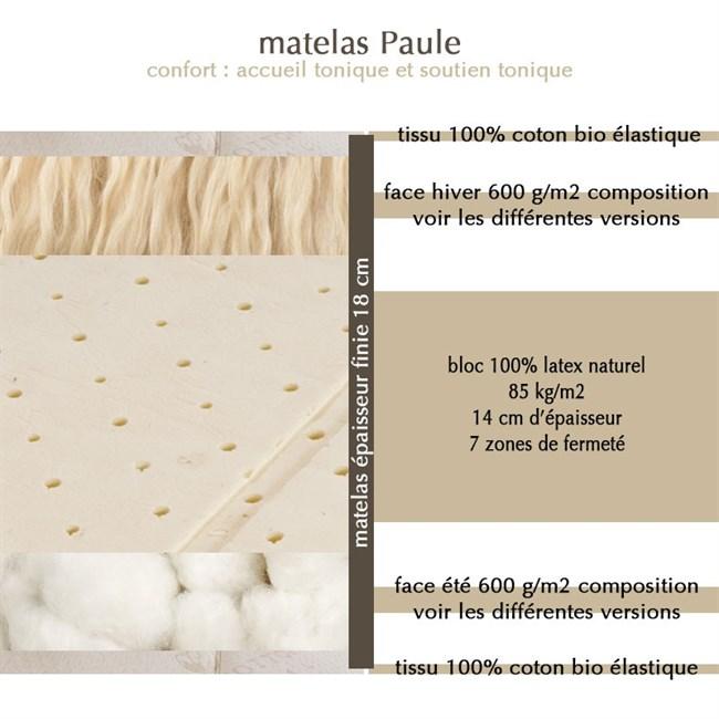 matelas vegan alice latex naturel 2x80x200 nature. Black Bedroom Furniture Sets. Home Design Ideas