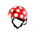 Casque vélo enfant rouge pois blanc m