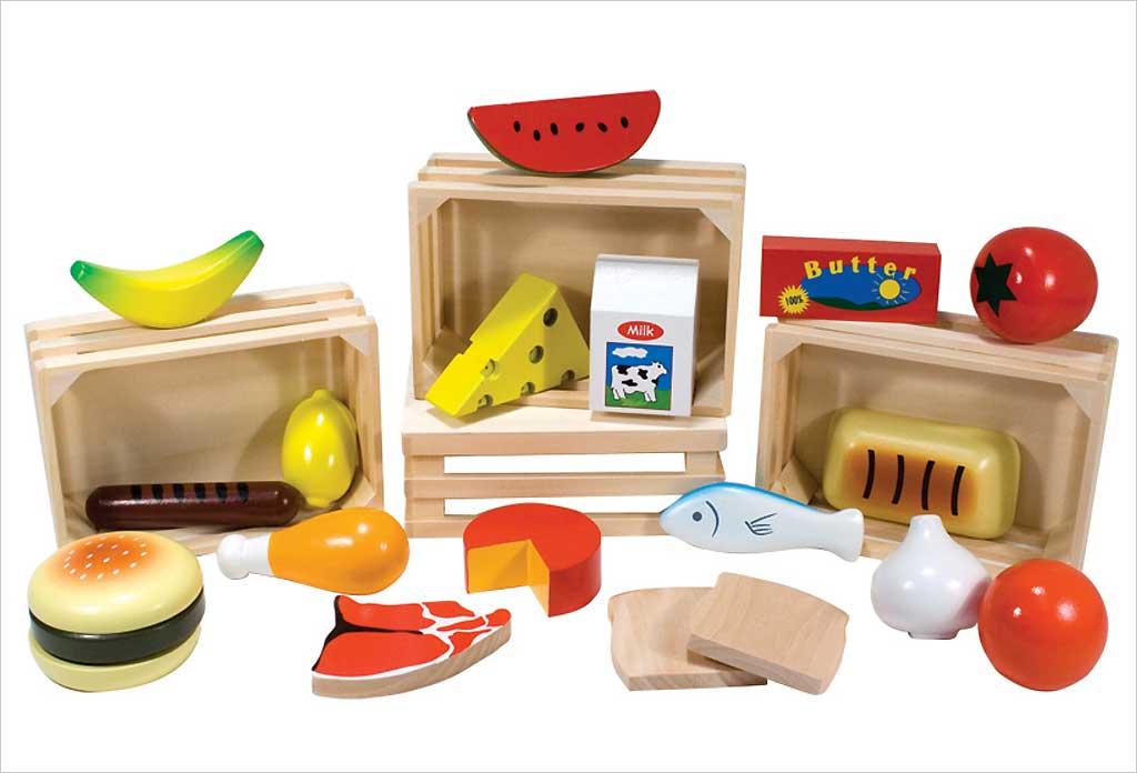 jouet en bois aliment cuisine