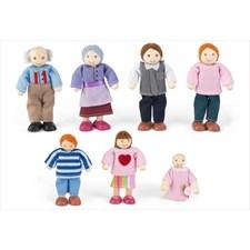 Famille de poupées 12 cm