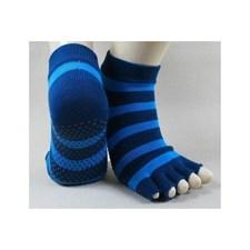 Chaussettes de yoga 36-38 bleu-bleu